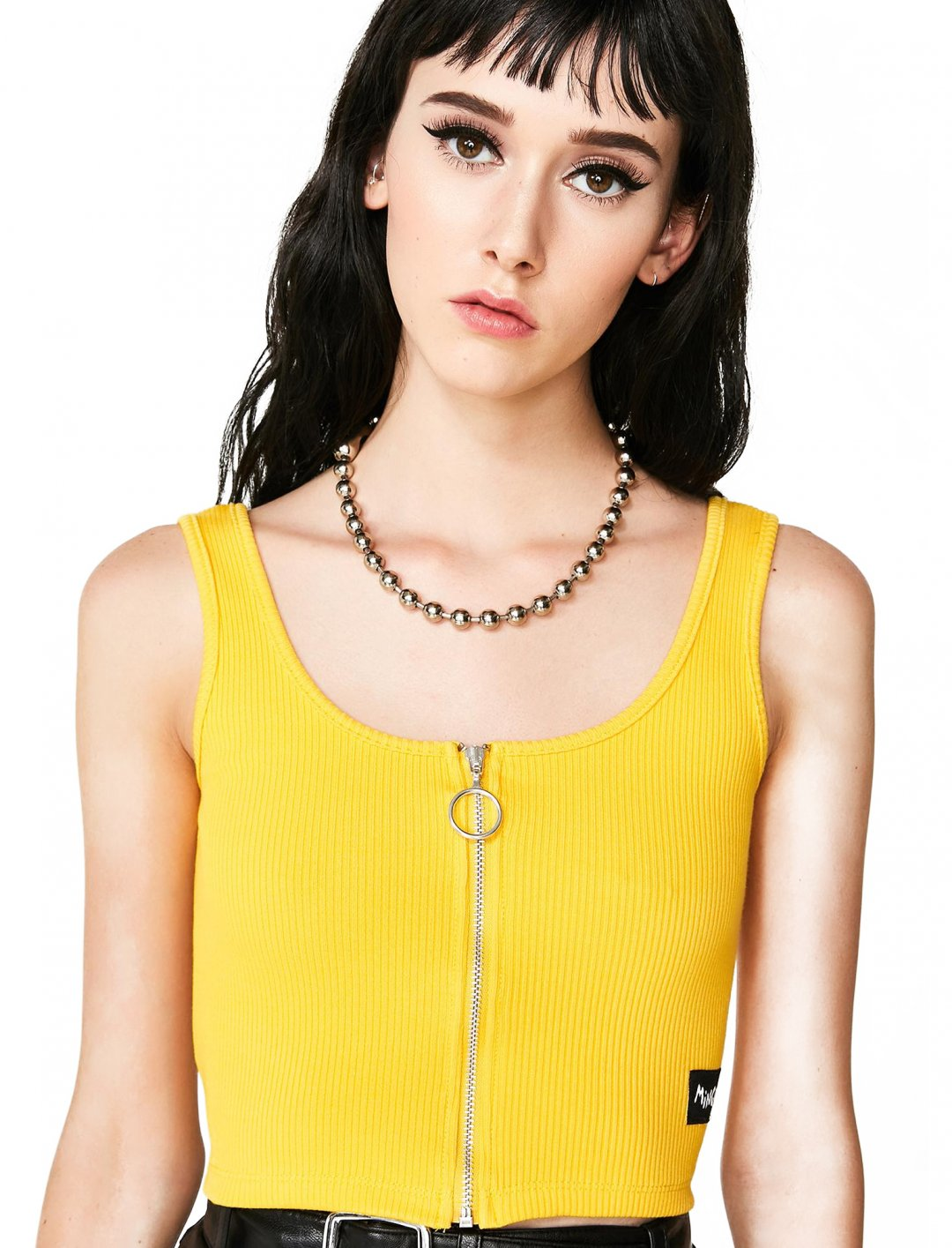 "Yellow Ribbed Bralette {""id"":5,""product_section_id"":1,""name"":""Clothing"",""order"":5} Minga"
