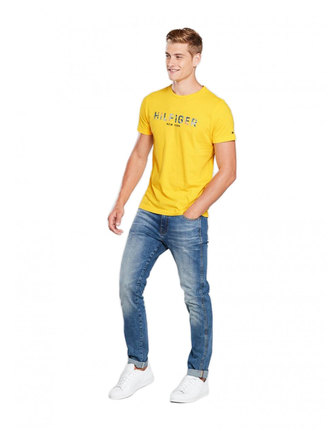 """Floral Logo T-Shirt {""""id"""":5,""""product_section_id"""":1,""""name"""":""""Clothing"""",""""order"""":5} Tommy Hilfiger"""
