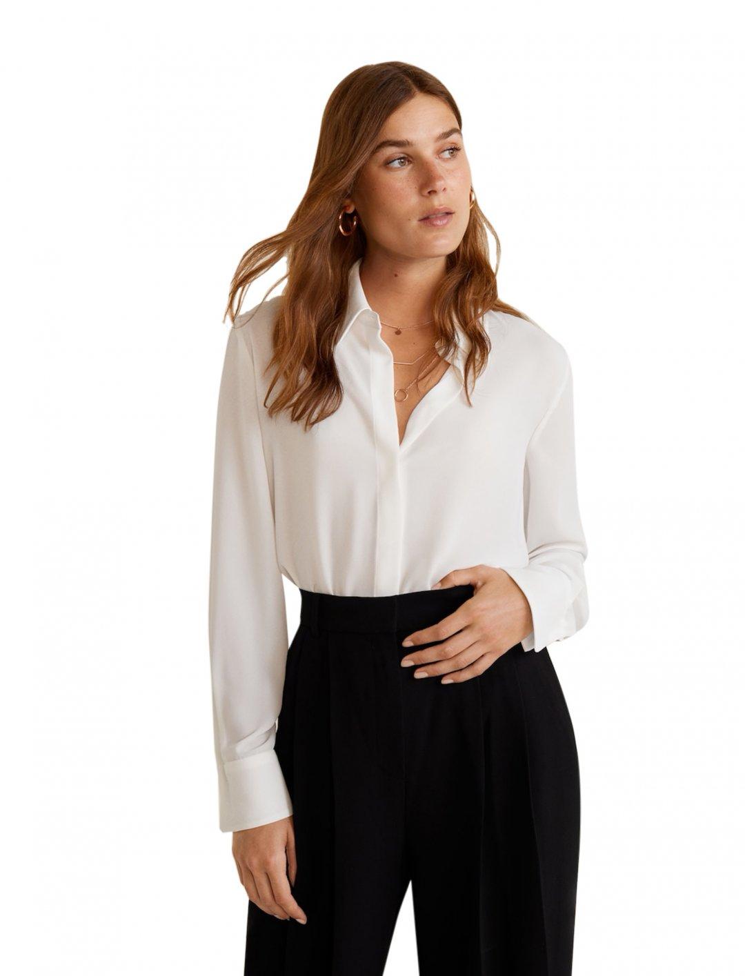 "Flowy Shirt {""id"":5,""product_section_id"":1,""name"":""Clothing"",""order"":5} MANGO"