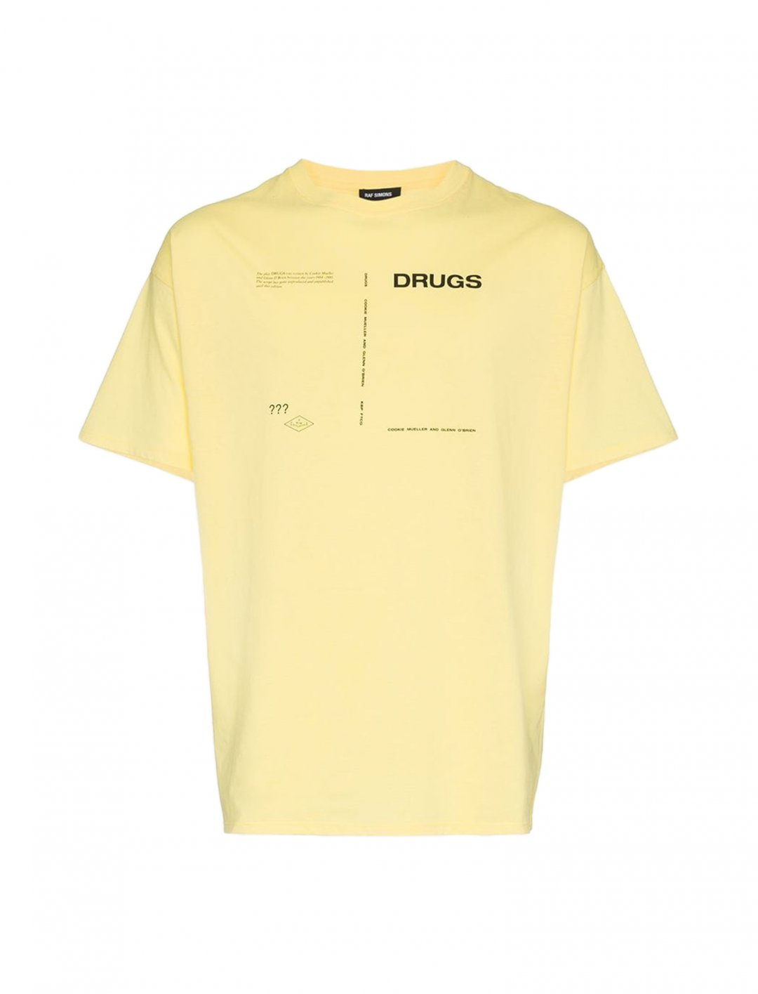 """Miguel's Drugs T-Shirt {""""id"""":5,""""product_section_id"""":1,""""name"""":""""Clothing"""",""""order"""":5} Raf Simons"""