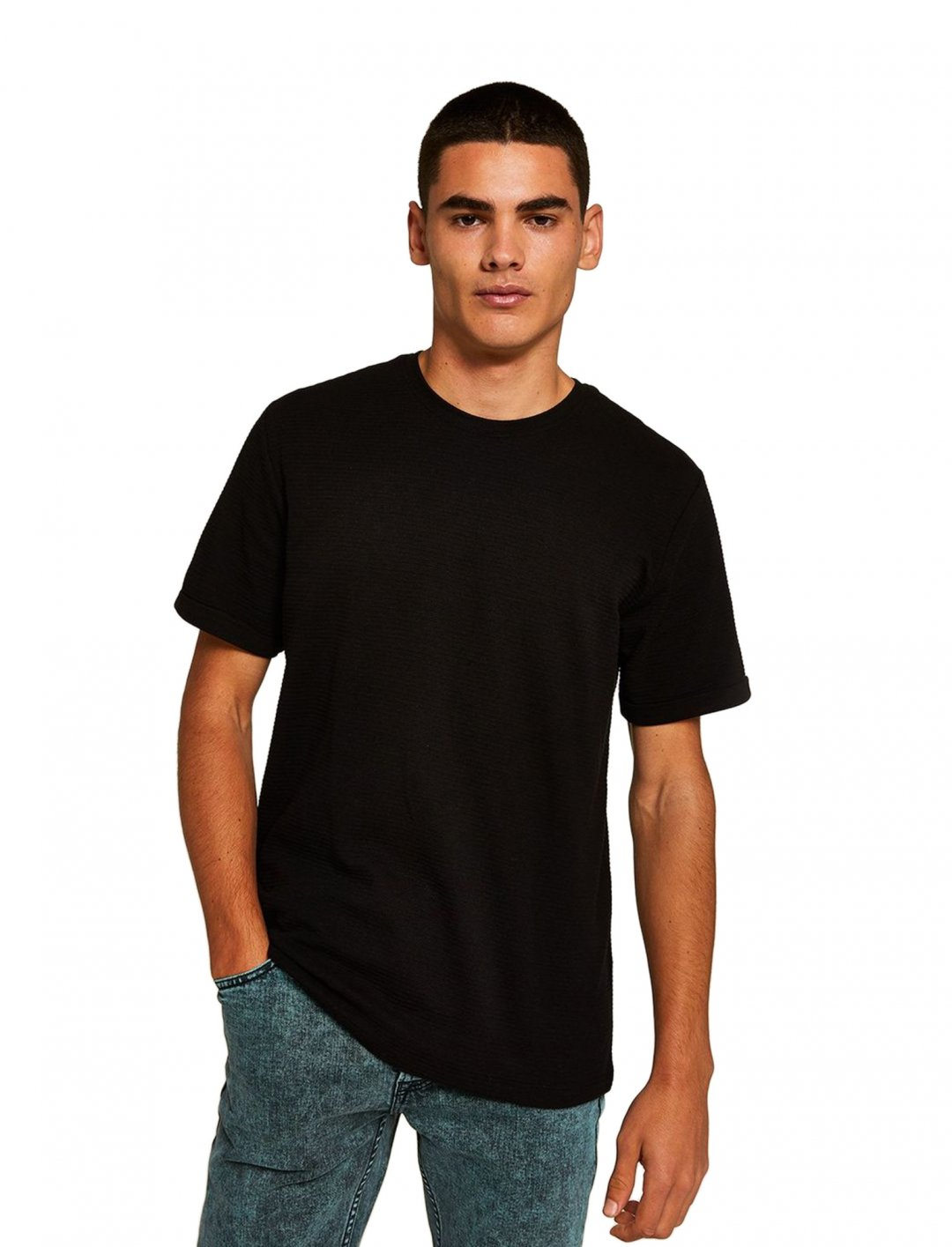 "Hex' T-Shirt In Black {""id"":5,""product_section_id"":1,""name"":""Clothing"",""order"":5} Topman"