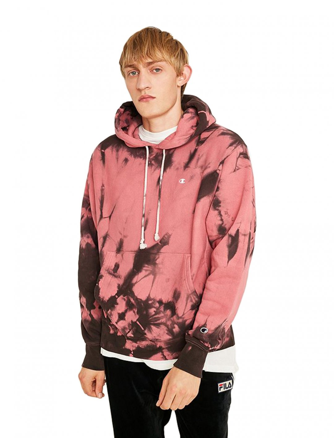 "Hex' Tie-Dye Hoodie {""id"":5,""product_section_id"":1,""name"":""Clothing"",""order"":5} Champion X UO"