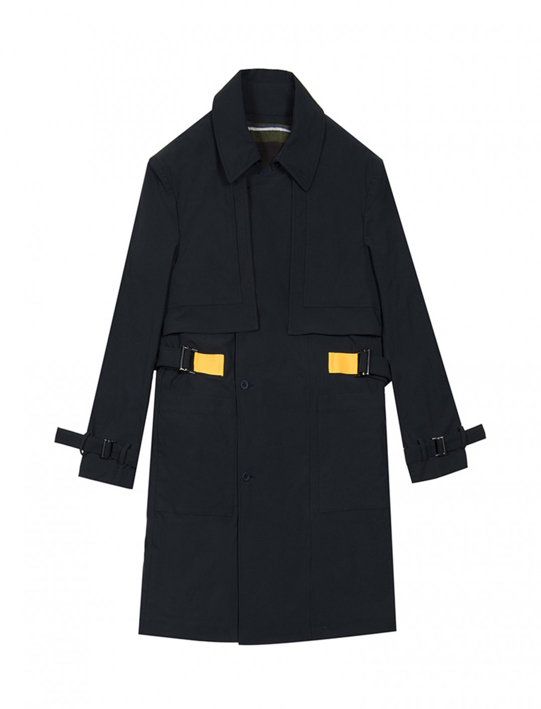 "Hex' Trench Coat {""id"":5,""product_section_id"":1,""name"":""Clothing"",""order"":5} GEYM"