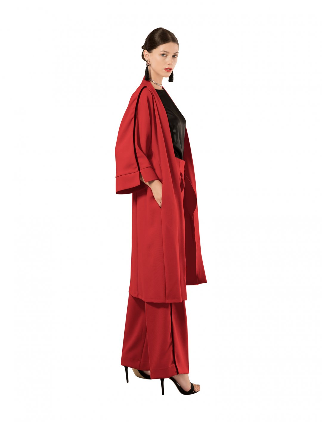 "Kimono Jacket In Red {""id"":5,""product_section_id"":1,""name"":""Clothing"",""order"":5} Closet London"
