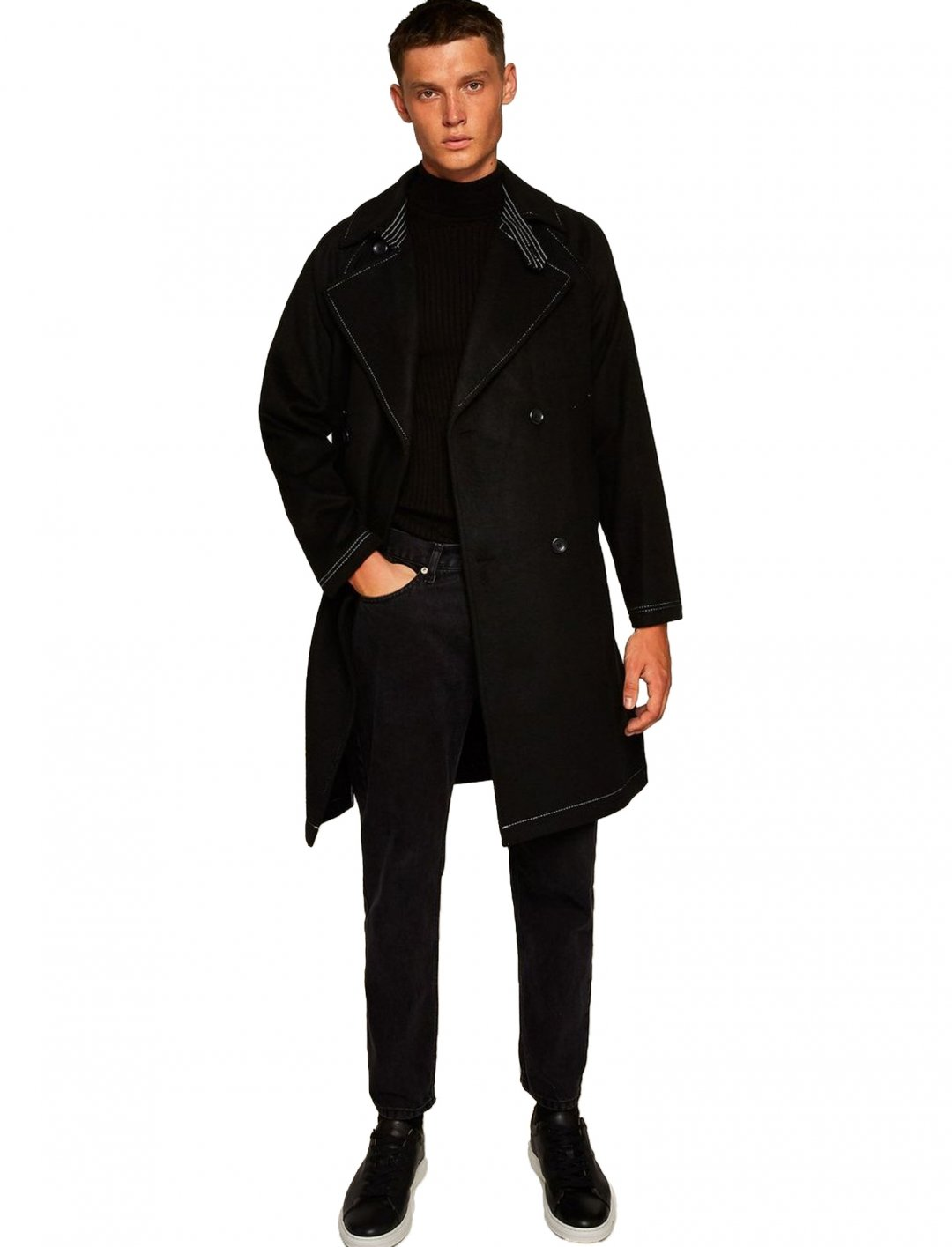 "Mac With Contrast Stitch {""id"":5,""product_section_id"":1,""name"":""Clothing"",""order"":5} Topman"