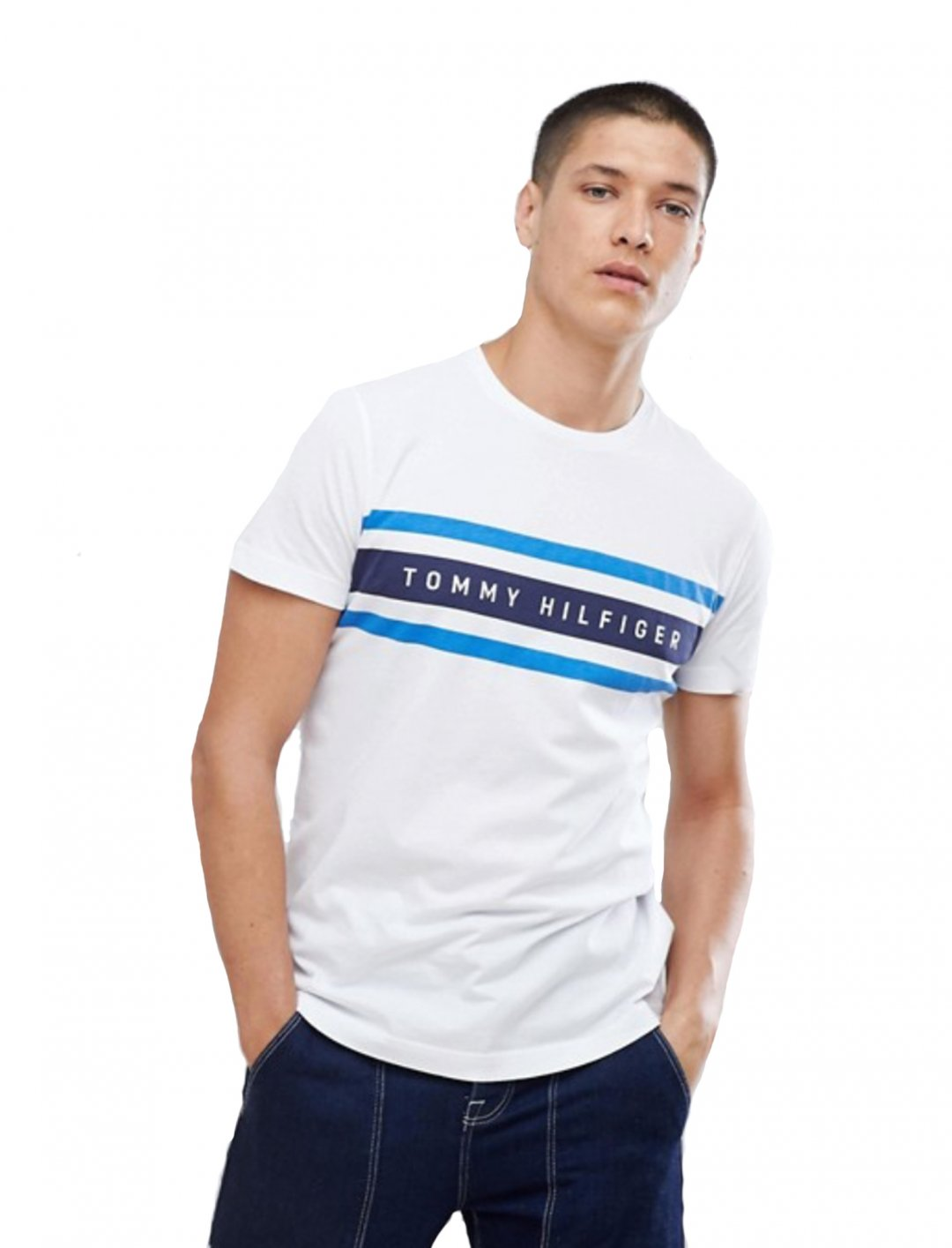 "Tommy Hilfiger Icon Stripe T-Shirt {""id"":5,""product_section_id"":1,""name"":""Clothing"",""order"":5} Tommy Hilfiger"