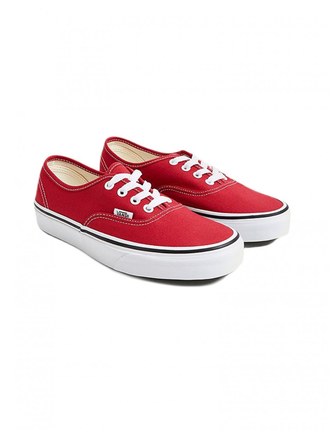 "Authentic Red Trainers {""id"":12,""product_section_id"":1,""name"":""Shoes"",""order"":12} Vans"