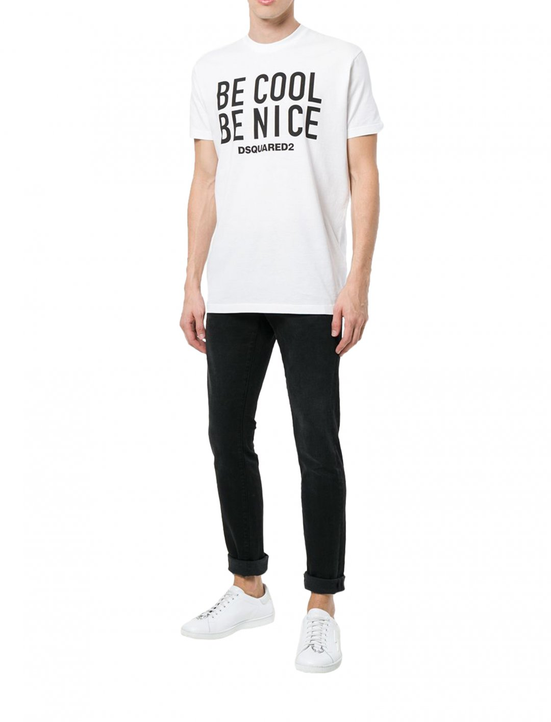 "Be Cool Be Nice T-shirt {""id"":5,""product_section_id"":1,""name"":""Clothing"",""order"":5} Dsquared2"
