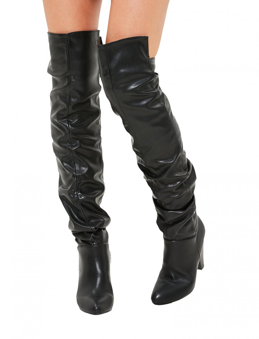 "Black Ruched Boots {""id"":12,""product_section_id"":1,""name"":""Shoes"",""order"":12} Missguided"