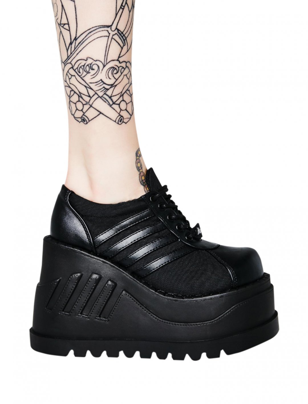 "Black Stomp Platforms {""id"":12,""product_section_id"":1,""name"":""Shoes"",""order"":12} Demonia"