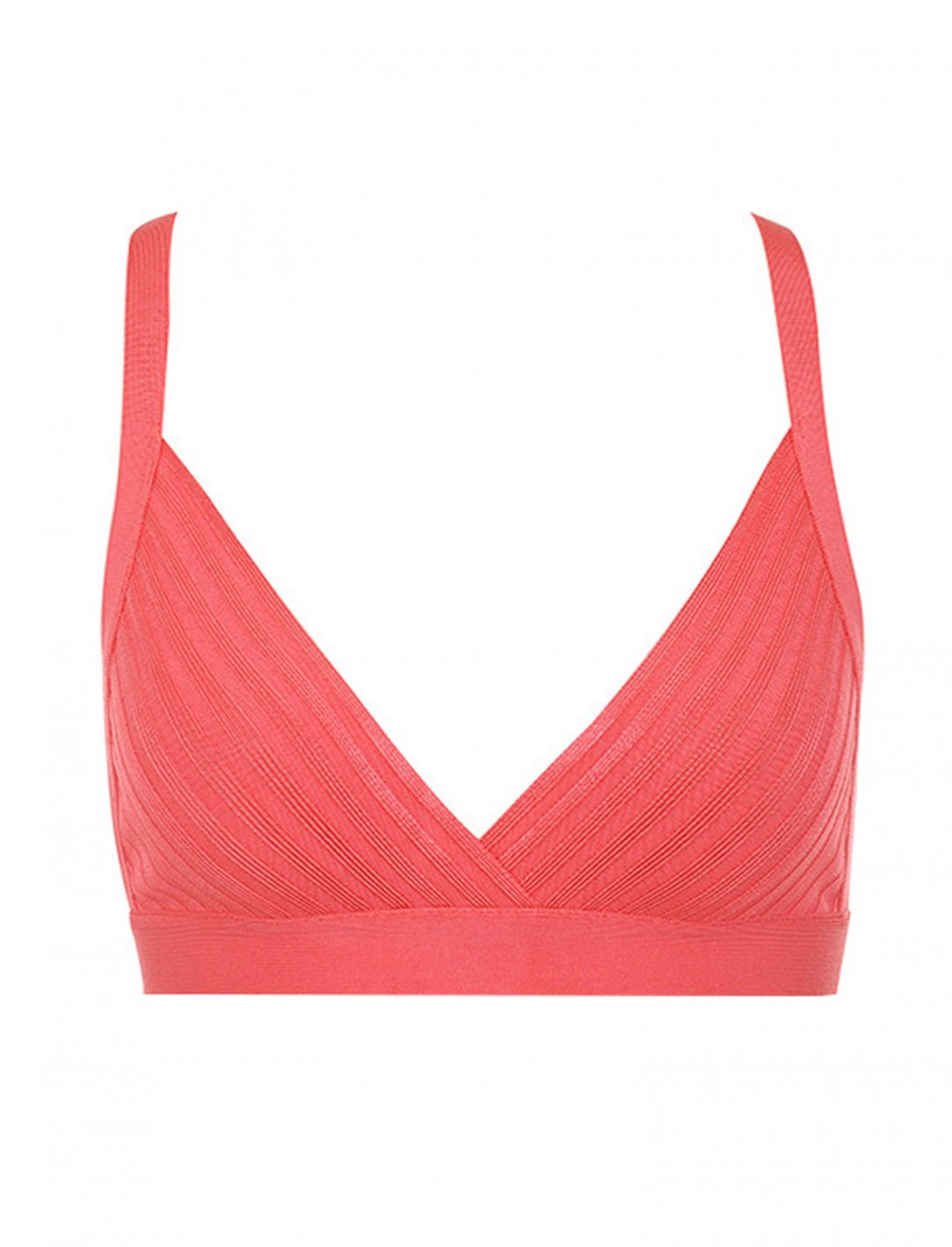 "Coral Bandage Bralet Top {""id"":5,""product_section_id"":1,""name"":""Clothing"",""order"":5} House Of CB"