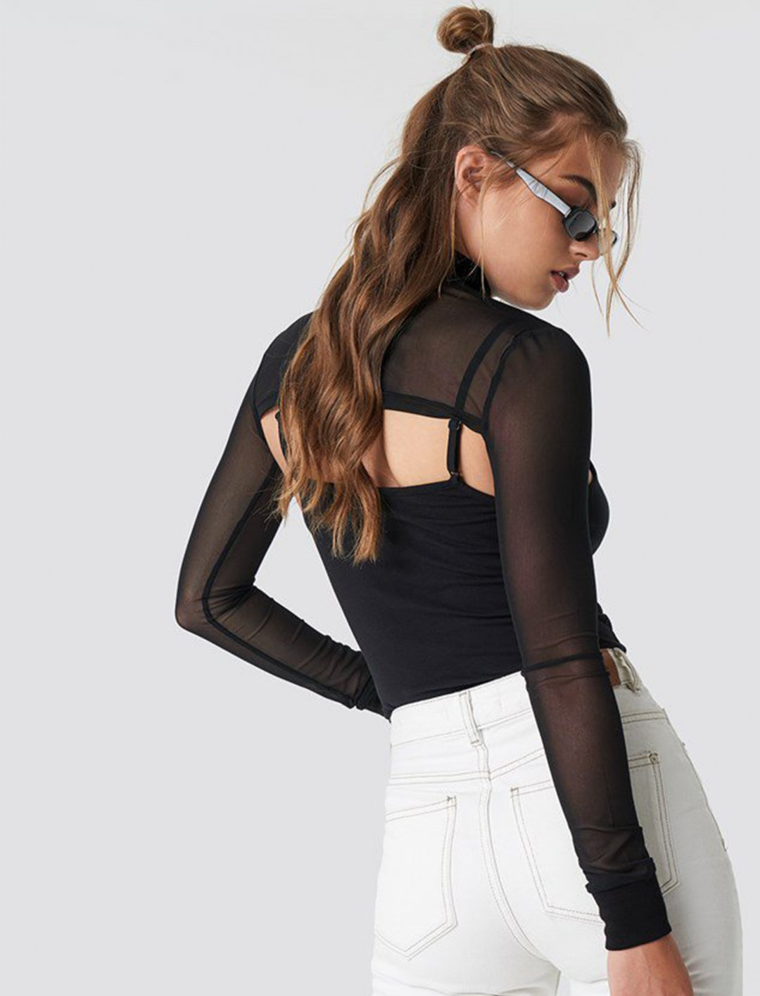 "Cropped Mesh Top {""id"":5,""product_section_id"":1,""name"":""Clothing"",""order"":5} NA-KD"