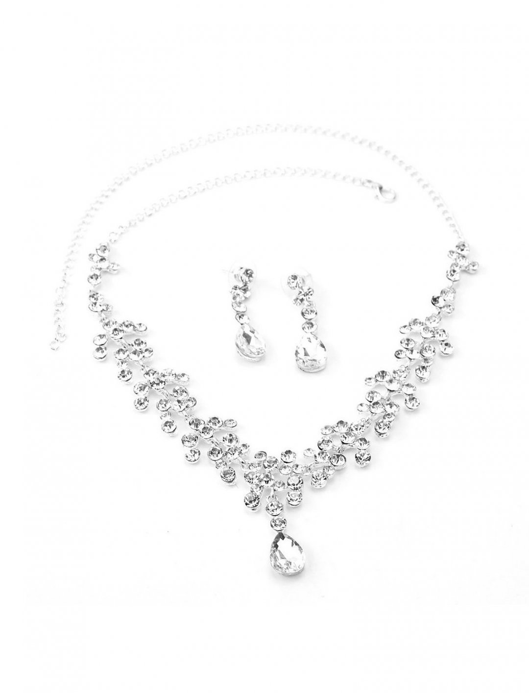 "Crystal Necklace & Earrings Set {""id"":10,""product_section_id"":1,""name"":""Jewellery"",""order"":10} Ueetek"