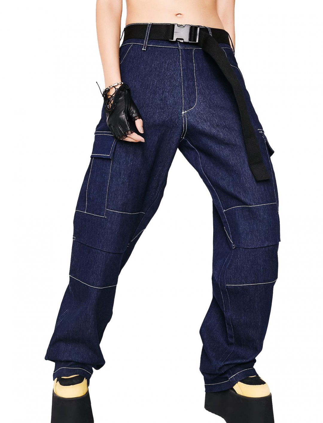 "Denim Cargo Pants {""id"":5,""product_section_id"":1,""name"":""Clothing"",""order"":5} I.AM.GIA"