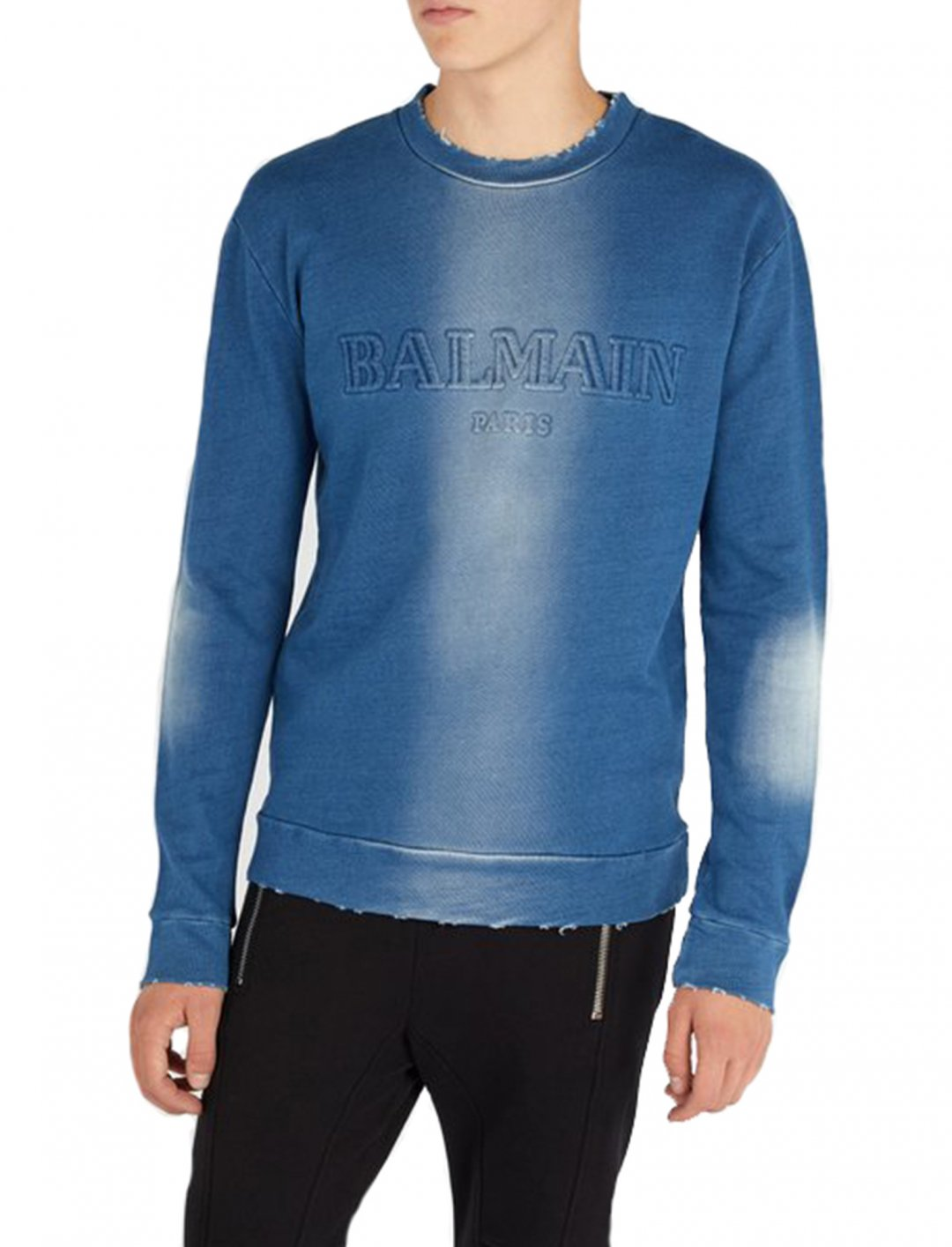 "Distressed Sweatshirt {""id"":5,""product_section_id"":1,""name"":""Clothing"",""order"":5} Balmain"