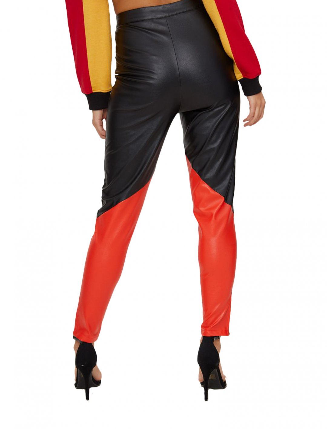 "Faux Leather Belted Trousers {""id"":5,""product_section_id"":1,""name"":""Clothing"",""order"":5} PLT"