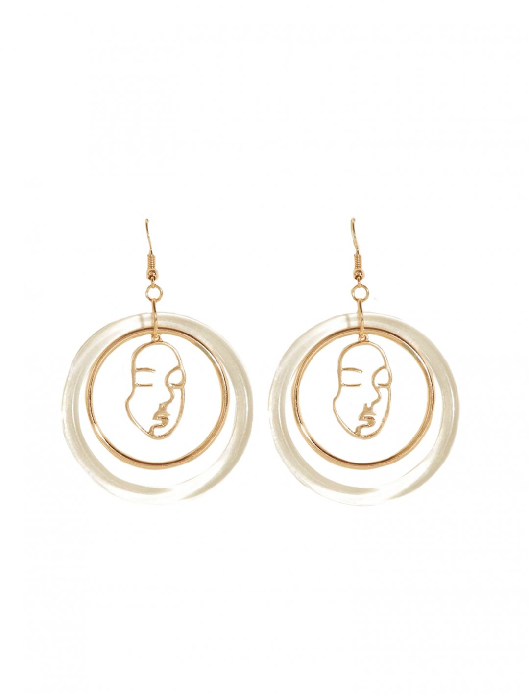 "Face Clear Ring Earrings {""id"":10,""product_section_id"":1,""name"":""Jewellery"",""order"":10} New Look"