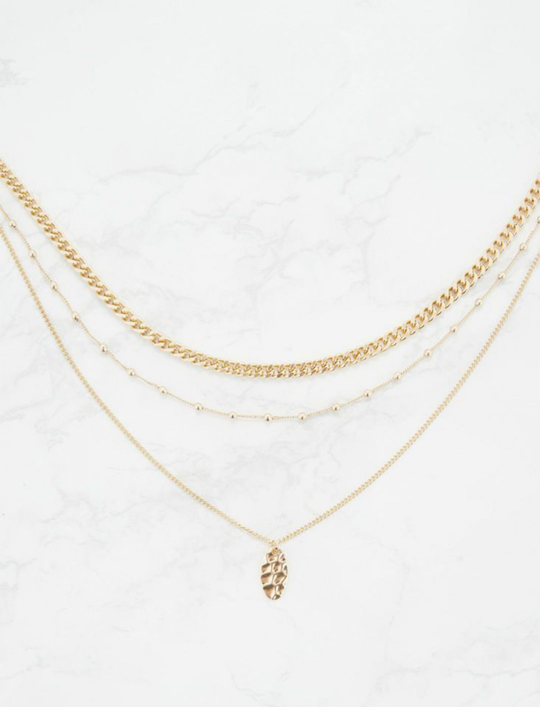 "Gold Layered Necklace {""id"":10,""product_section_id"":1,""name"":""Jewellery"",""order"":10} Pretty Little Thing"