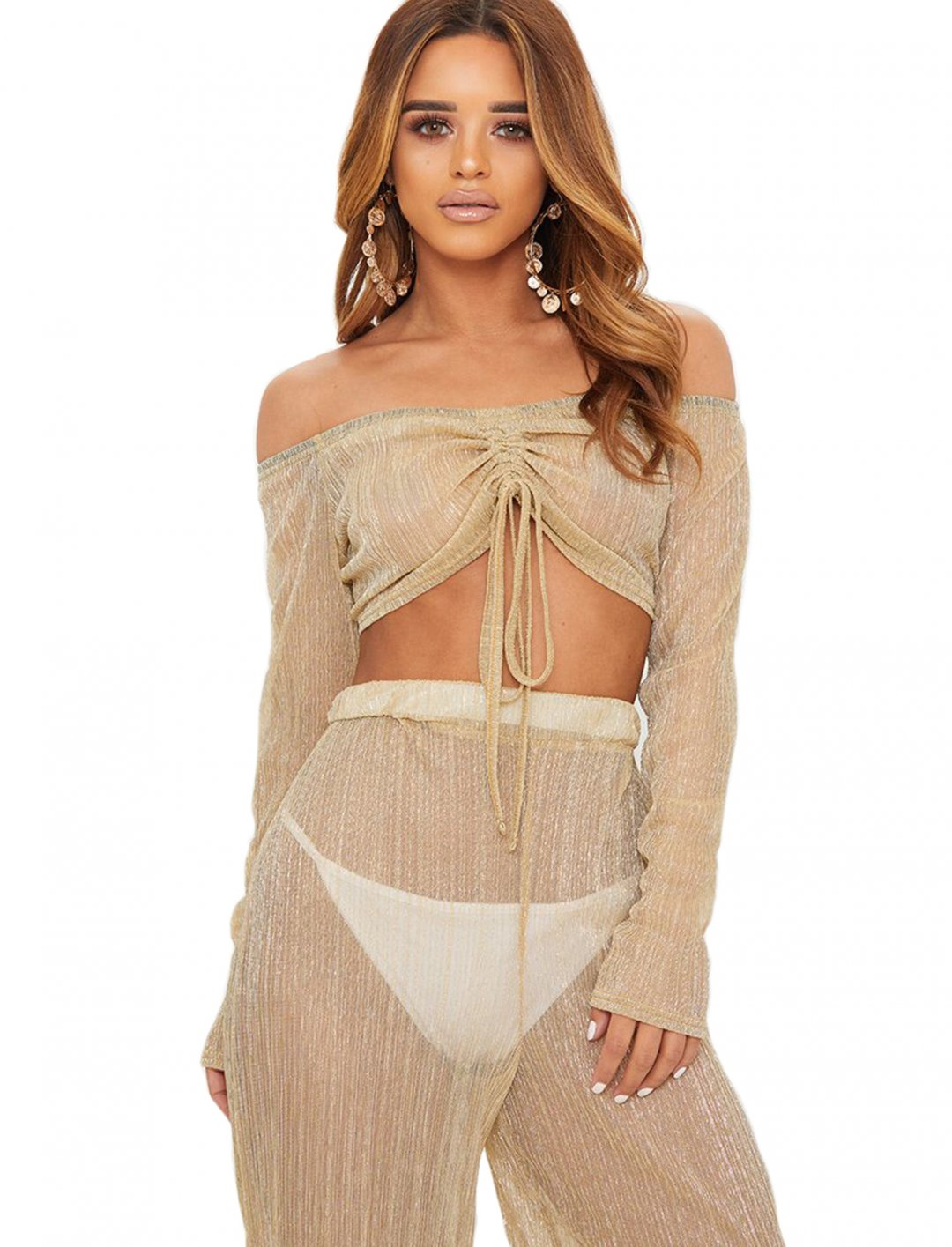"Gold Metallic Crop Top {""id"":5,""product_section_id"":1,""name"":""Clothing"",""order"":5} PLT"
