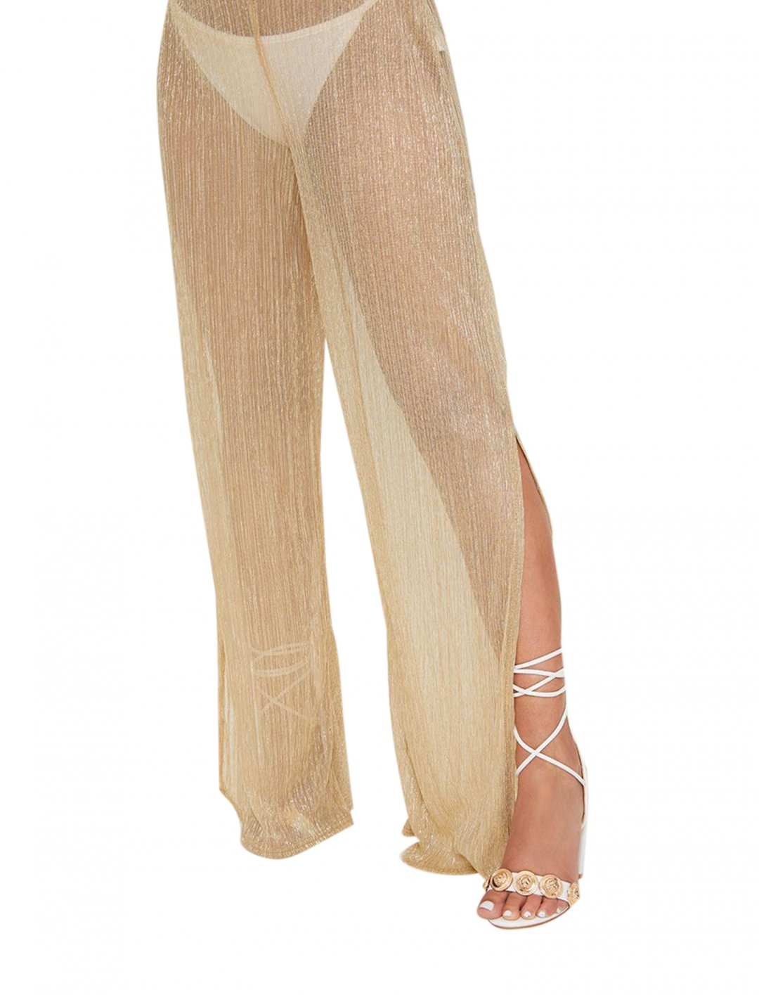 "Gold Metallic Trousers {""id"":5,""product_section_id"":1,""name"":""Clothing"",""order"":5} PLT"