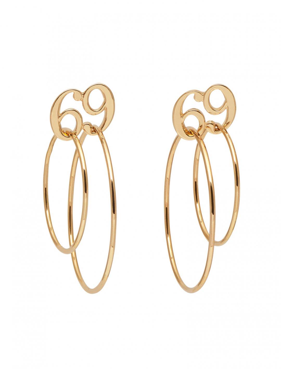 "Imani's 69 Double Circle Earrings {""id"":10,""product_section_id"":1,""name"":""Jewellery"",""order"":10} Jiwinaia"