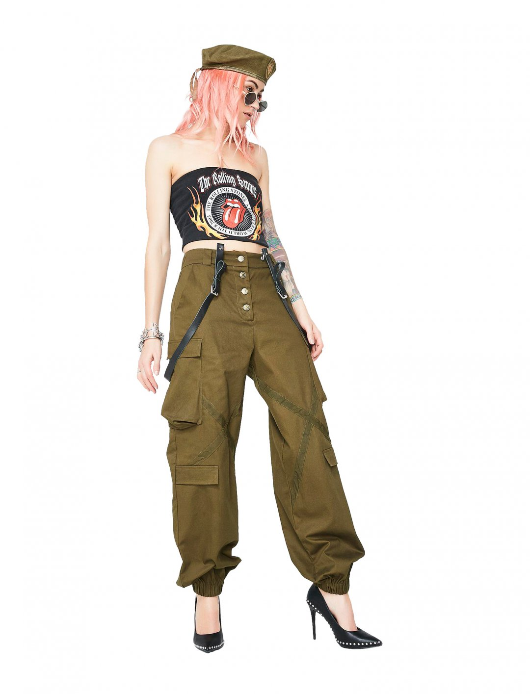 "Khaki Cargo Pants {""id"":5,""product_section_id"":1,""name"":""Clothing"",""order"":5} Dolls Kill"