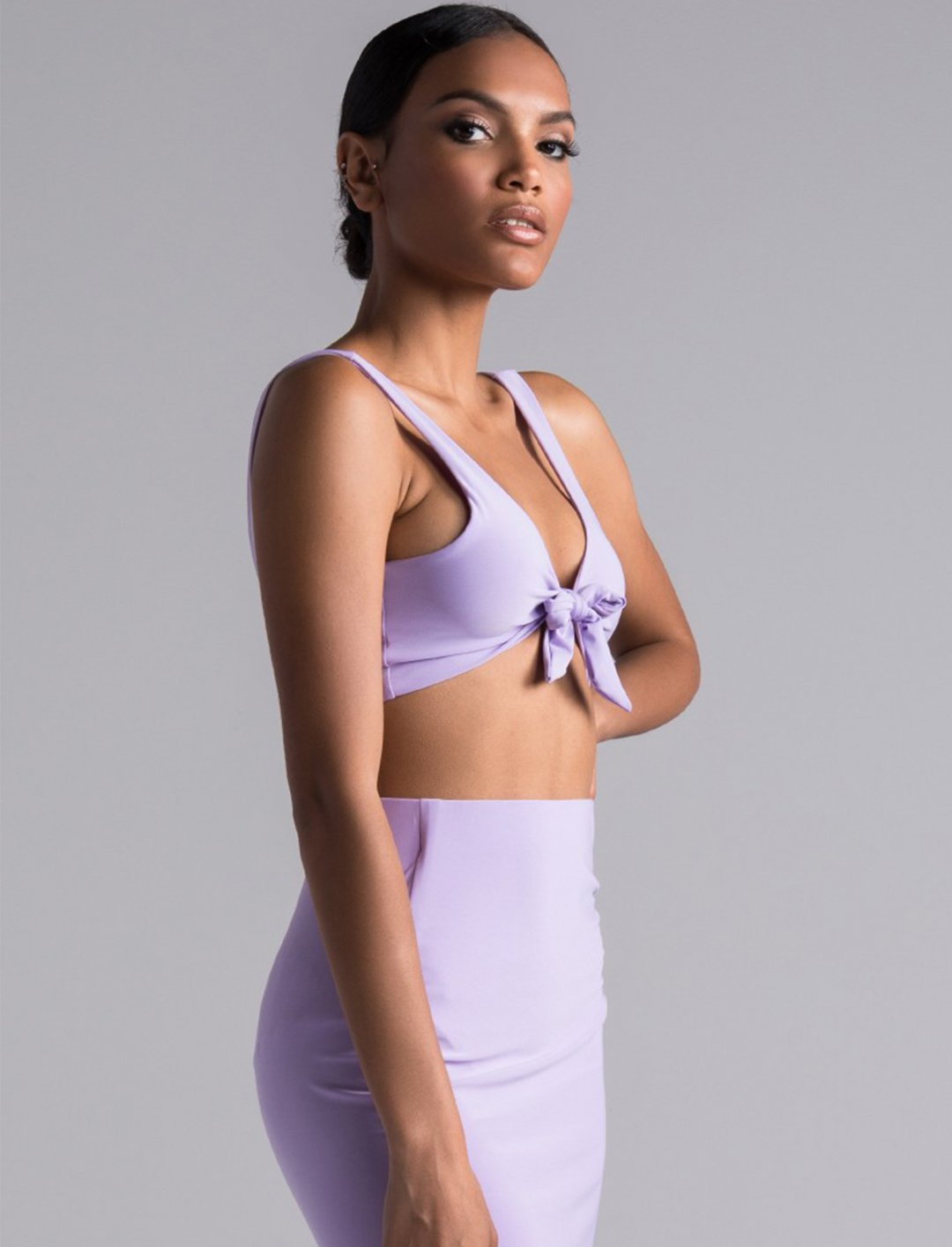 "Lilac Crop Top {""id"":5,""product_section_id"":1,""name"":""Clothing"",""order"":5} Akira"