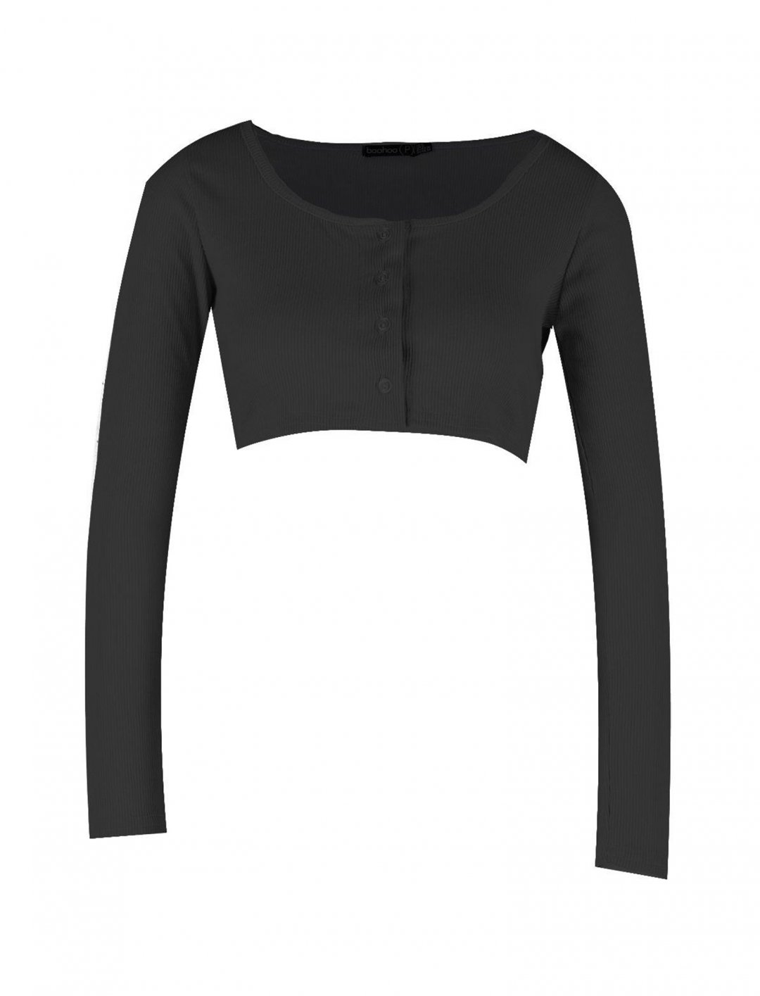 "Long Sleeve Crop Top {""id"":5,""product_section_id"":1,""name"":""Clothing"",""order"":5} Boohoo"