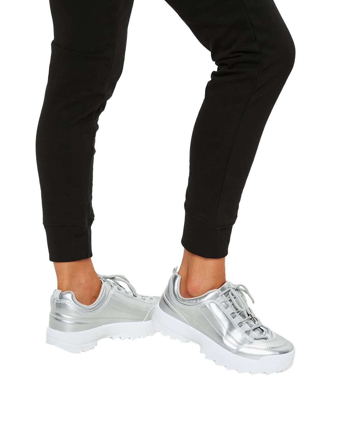 "Metallic Chunky Trainers {""id"":12,""product_section_id"":1,""name"":""Shoes"",""order"":12} Missguided"