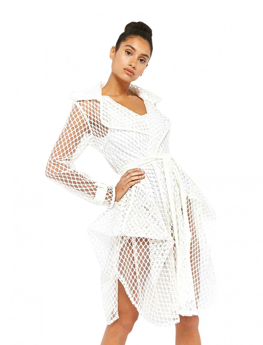 "Open-Mesh Longline Trench Coat {""id"":5,""product_section_id"":1,""name"":""Clothing"",""order"":5} Forever 21"