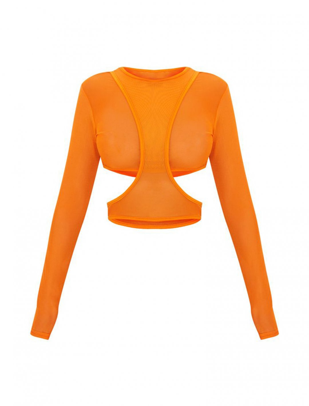 "Orange Mesh Crop Top {""id"":5,""product_section_id"":1,""name"":""Clothing"",""order"":5} PLT"