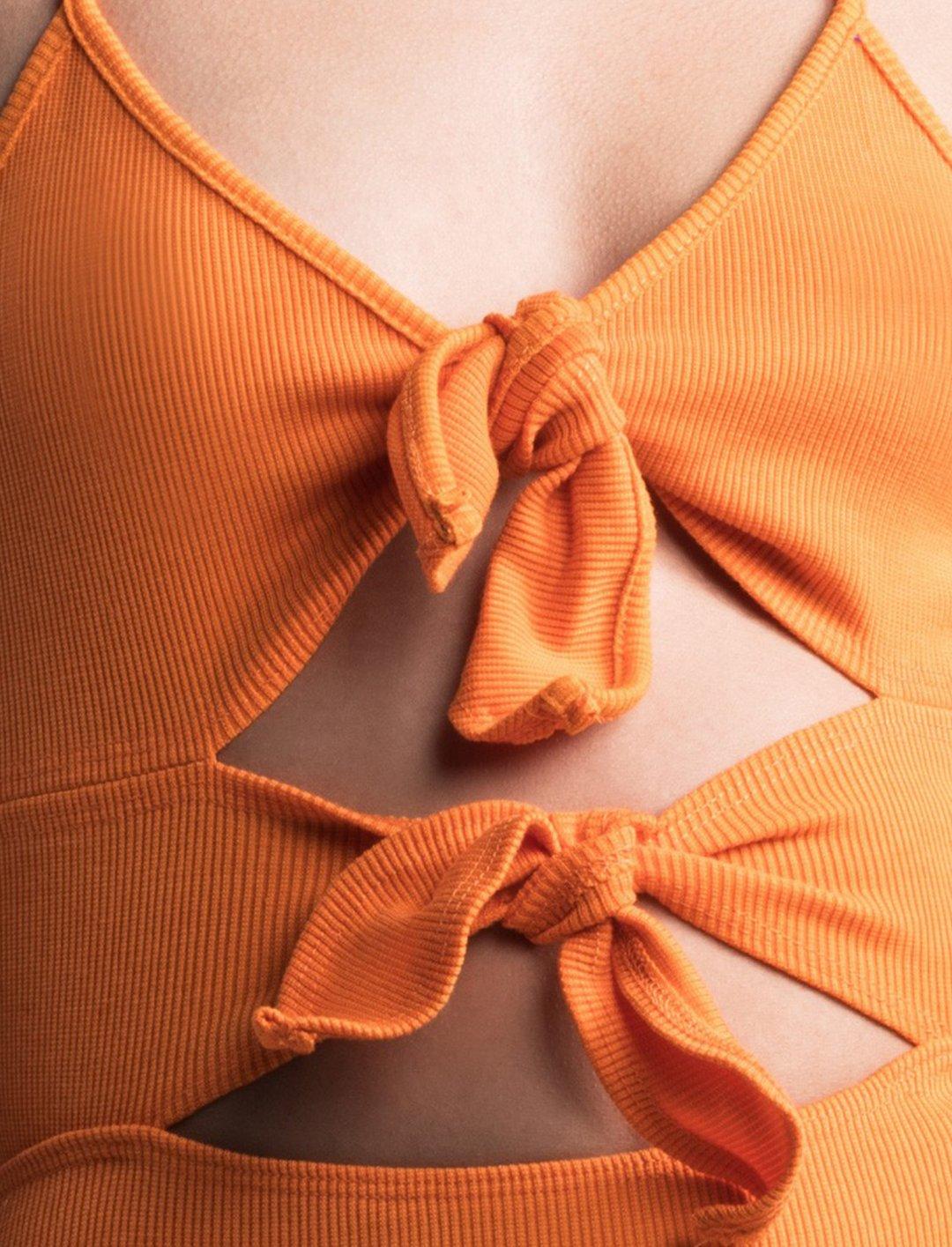"""Orange Ribbed Bodysuit {""""id"""":5,""""product_section_id"""":1,""""name"""":""""Clothing"""",""""order"""":5} Akira"""