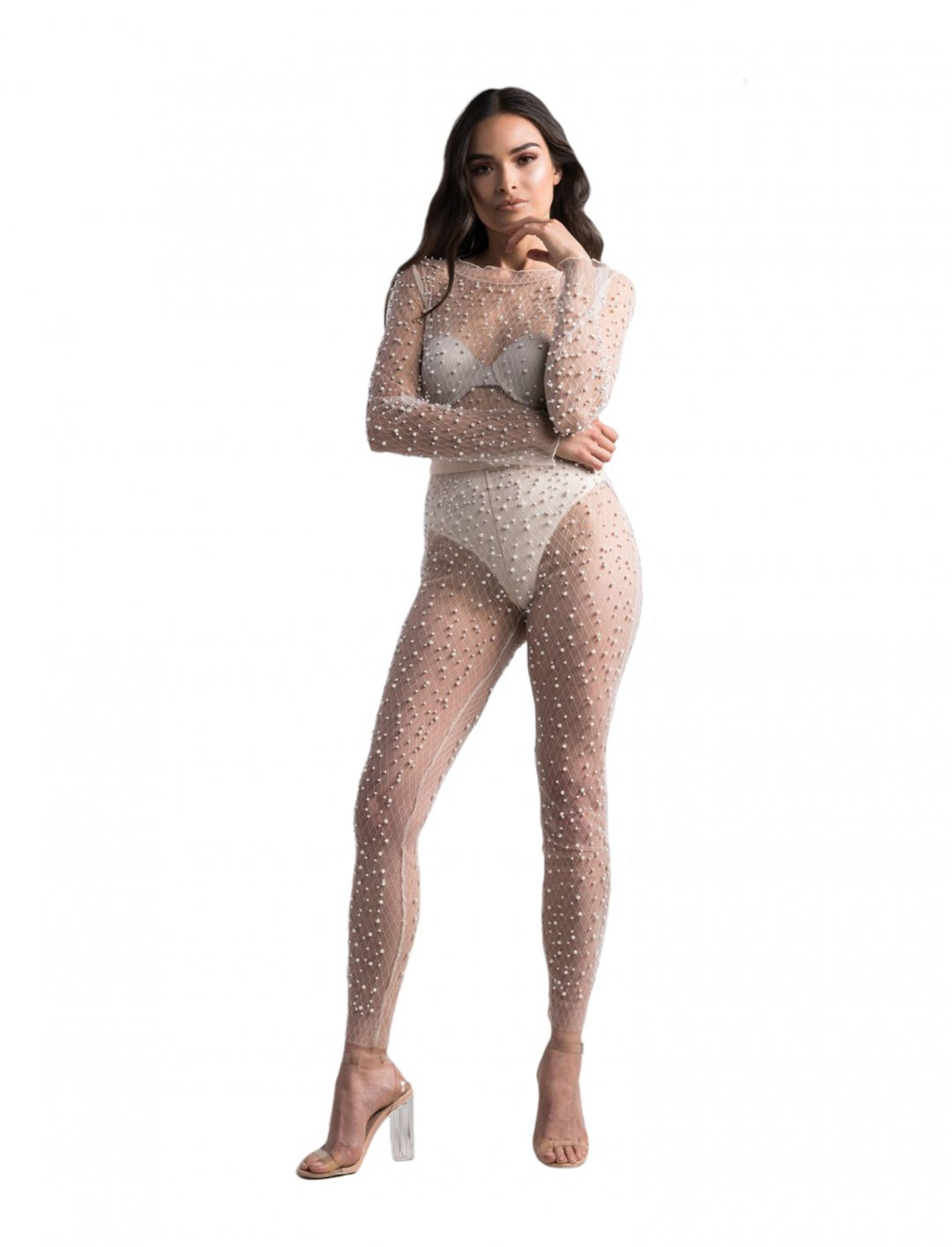 "Pearl Mesh Leggings {""id"":5,""product_section_id"":1,""name"":""Clothing"",""order"":5} Akira"