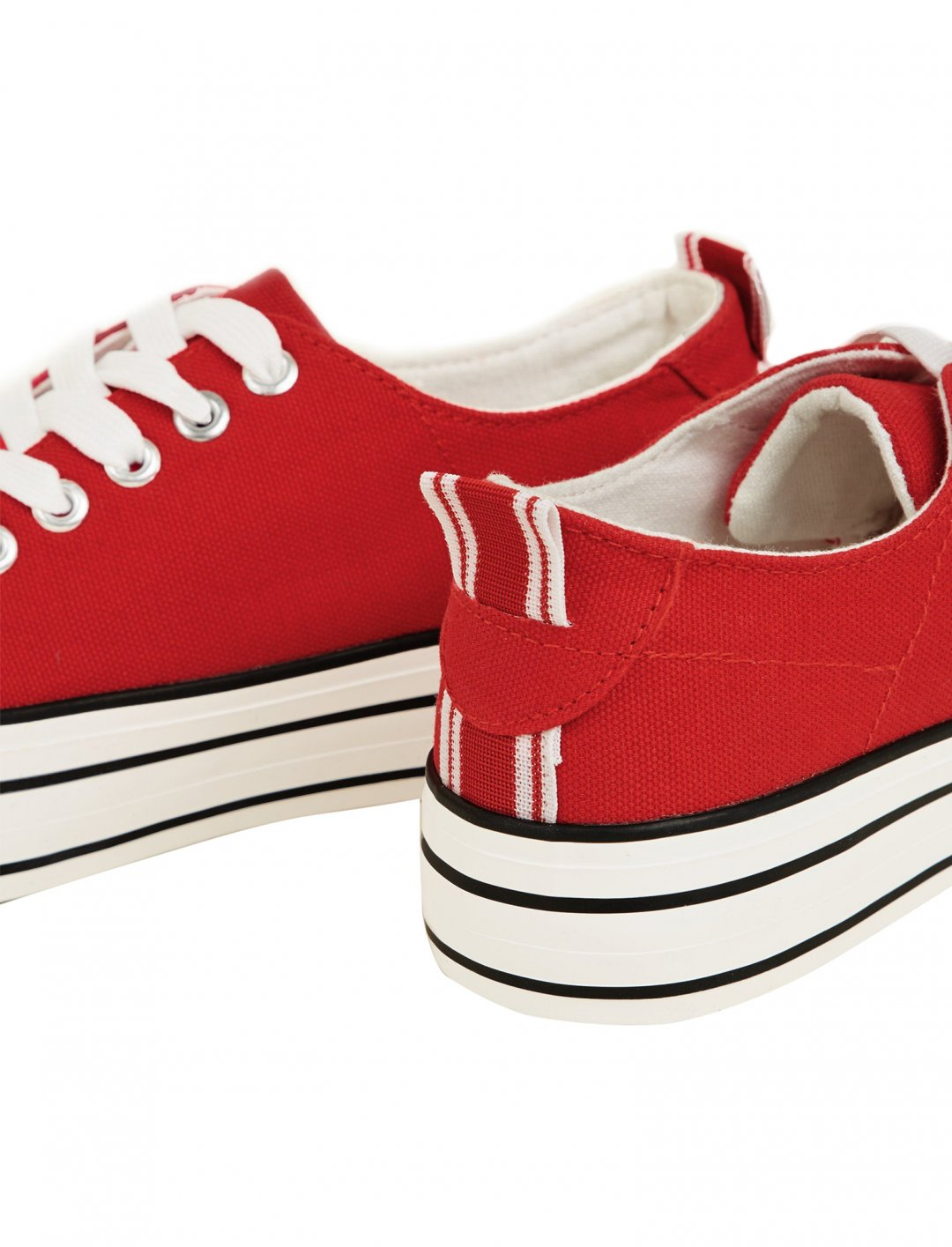 "Red Canvas Trainers {""id"":12,""product_section_id"":1,""name"":""Shoes"",""order"":12} New Look"