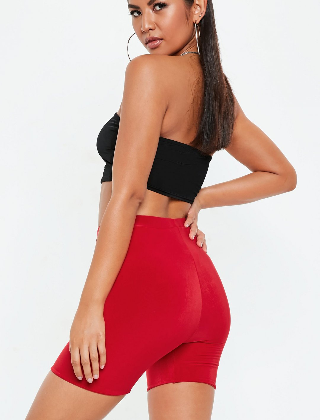 "Red Cycling Shorts {""id"":5,""product_section_id"":1,""name"":""Clothing"",""order"":5} Missguided"
