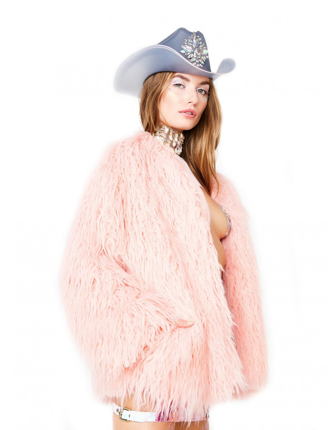 "Sparkle Faux Fur Coat {""id"":5,""product_section_id"":1,""name"":""Clothing"",""order"":5} J Valentine"