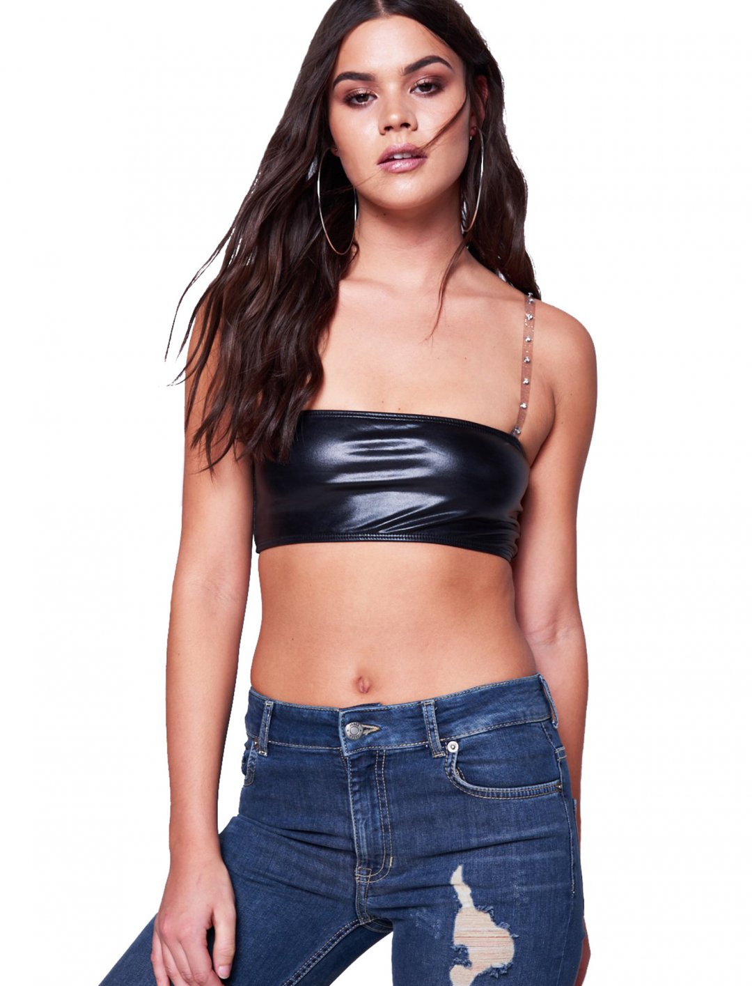 "Vinyl Crop Top {""id"":5,""product_section_id"":1,""name"":""Clothing"",""order"":5} Jaded London"