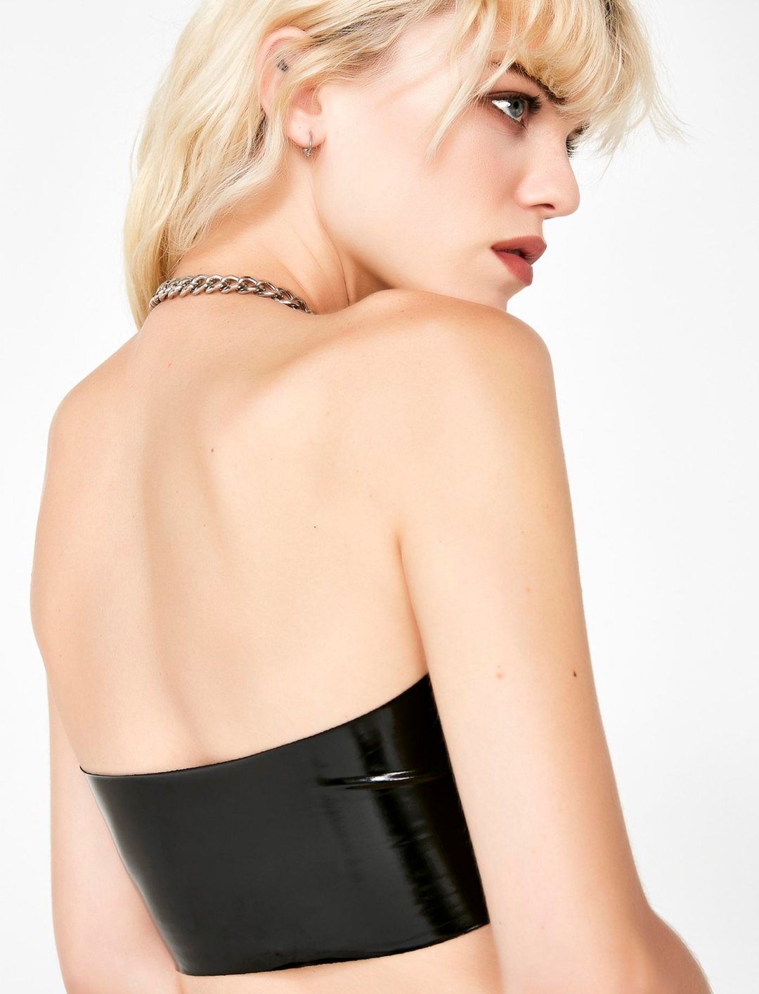 "Vinyl Tube Top {""id"":5,""product_section_id"":1,""name"":""Clothing"",""order"":5} Kiki Riki"