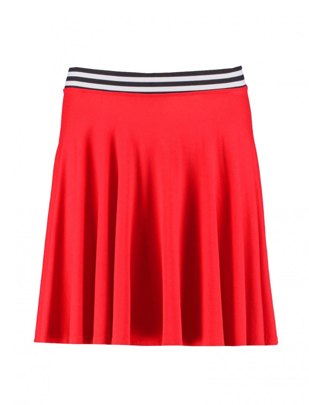 "Waistband Skater Mini Skirt {""id"":5,""product_section_id"":1,""name"":""Clothing"",""order"":5} Boohoo"