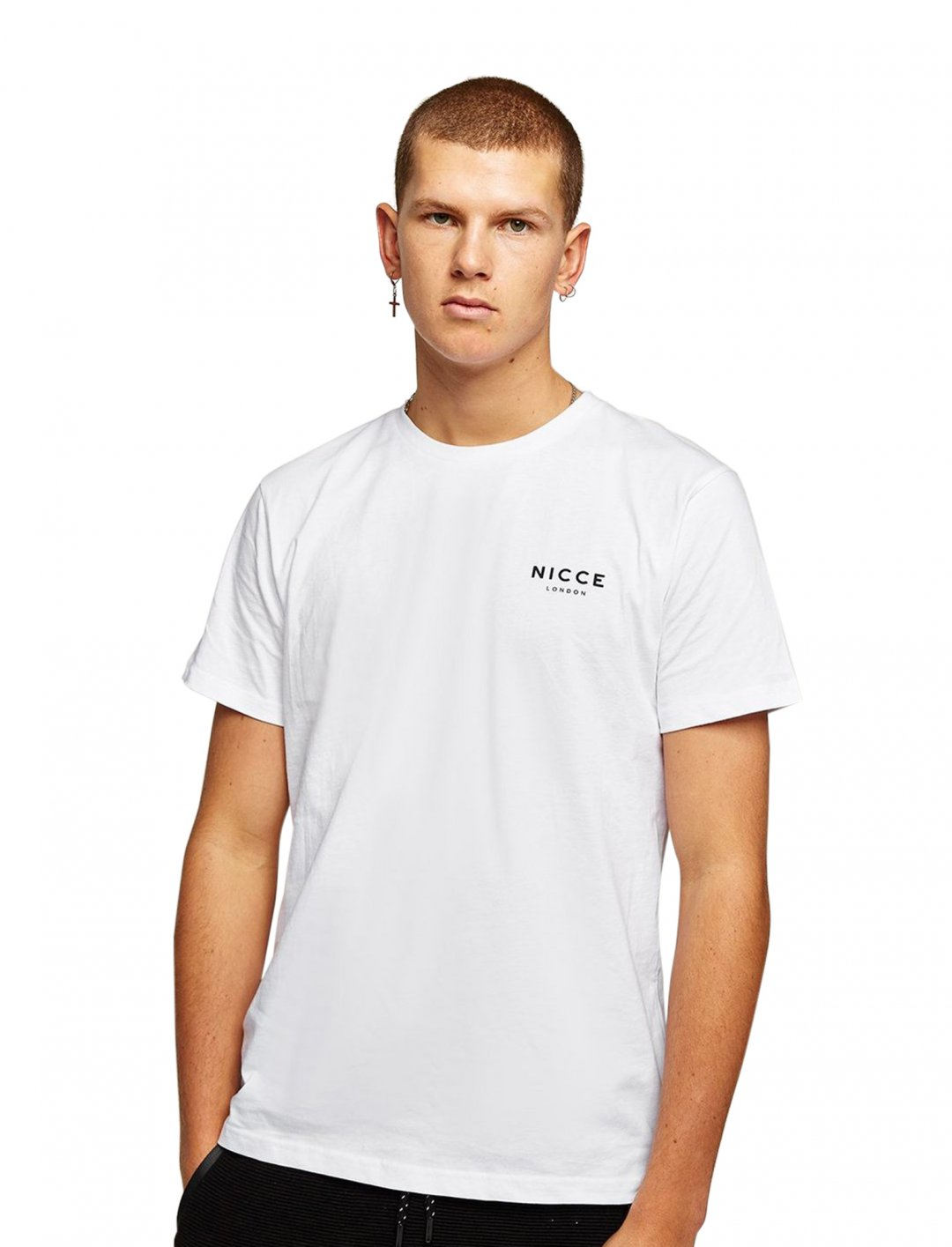 "White Logo T-Shirt {""id"":5,""product_section_id"":1,""name"":""Clothing"",""order"":5} Nicce"