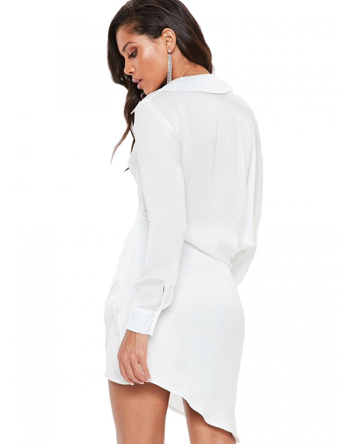"White Satin Shirt Dress {""id"":5,""product_section_id"":1,""name"":""Clothing"",""order"":5} Missguided"