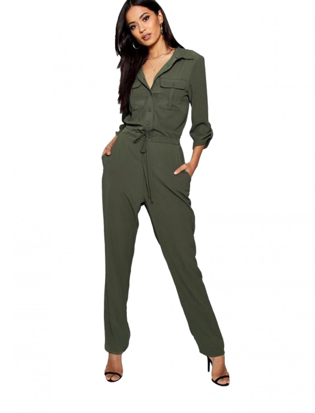 """Lightweight Utility Jumpsuit {""""id"""":5,""""product_section_id"""":1,""""name"""":""""Clothing"""",""""order"""":5} boohoo"""