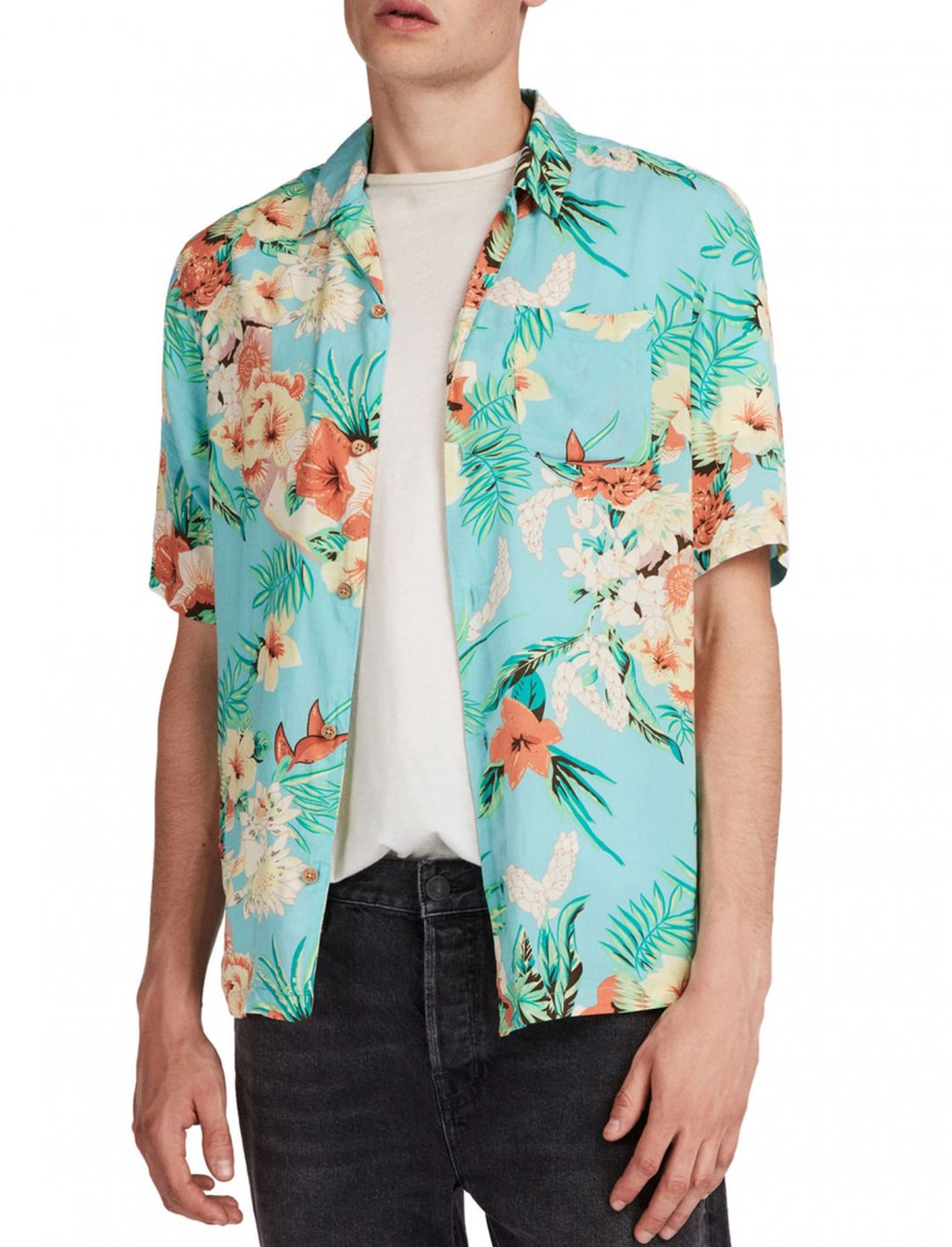 """Calypso Regular Fit Sport Shirt {""""id"""":5,""""product_section_id"""":1,""""name"""":""""Clothing"""",""""order"""":5} All Saints"""