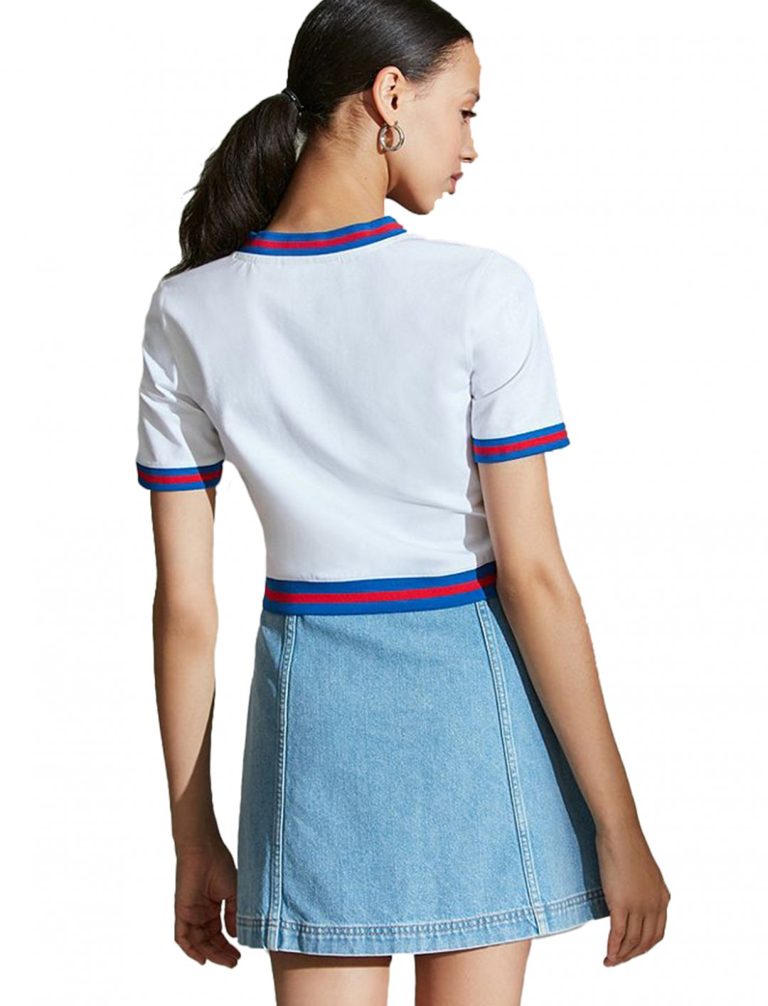 """Fila V-Neck Cropped Tee {""""id"""":5,""""product_section_id"""":1,""""name"""":""""Clothing"""",""""order"""":5} Fila"""