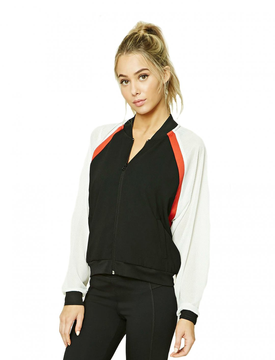 """Forever21Active Colorblock Jacket {""""id"""":5,""""product_section_id"""":1,""""name"""":""""Clothing"""",""""order"""":5} Forever21"""