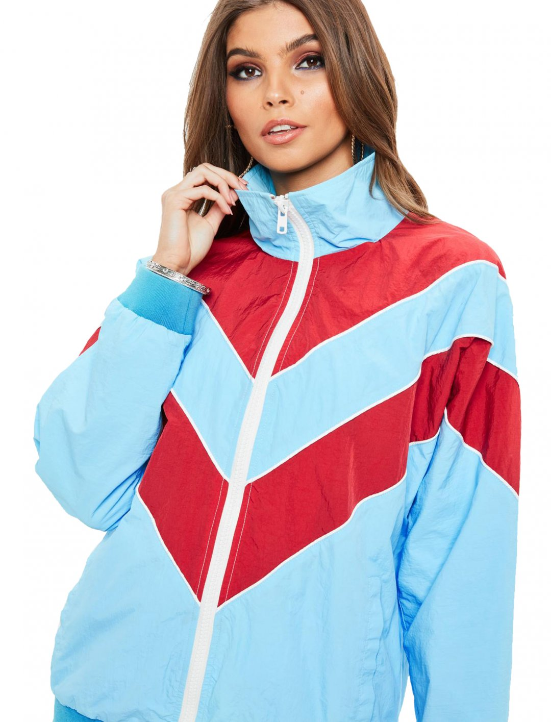 """Missguided Windbreaker Jacket {""""id"""":5,""""product_section_id"""":1,""""name"""":""""Clothing"""",""""order"""":5} Missguided"""