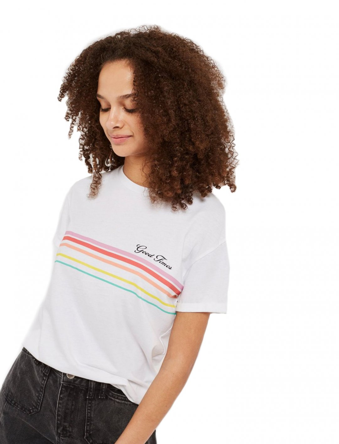 """Rainbow T-Shirt {""""id"""":5,""""product_section_id"""":1,""""name"""":""""Clothing"""",""""order"""":5} Topshop"""