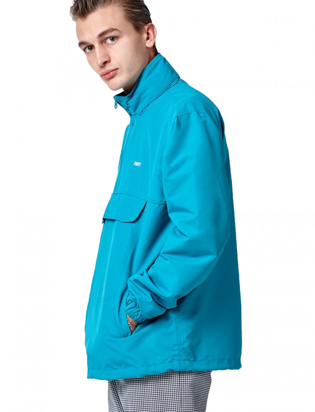 """Runaround Half Zip Jacket {""""id"""":5,""""product_section_id"""":1,""""name"""":""""Clothing"""",""""order"""":5} Obey"""