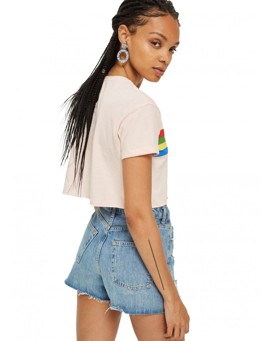 """Slogan Rainbow T-Shirt {""""id"""":5,""""product_section_id"""":1,""""name"""":""""Clothing"""",""""order"""":5} Topshop"""