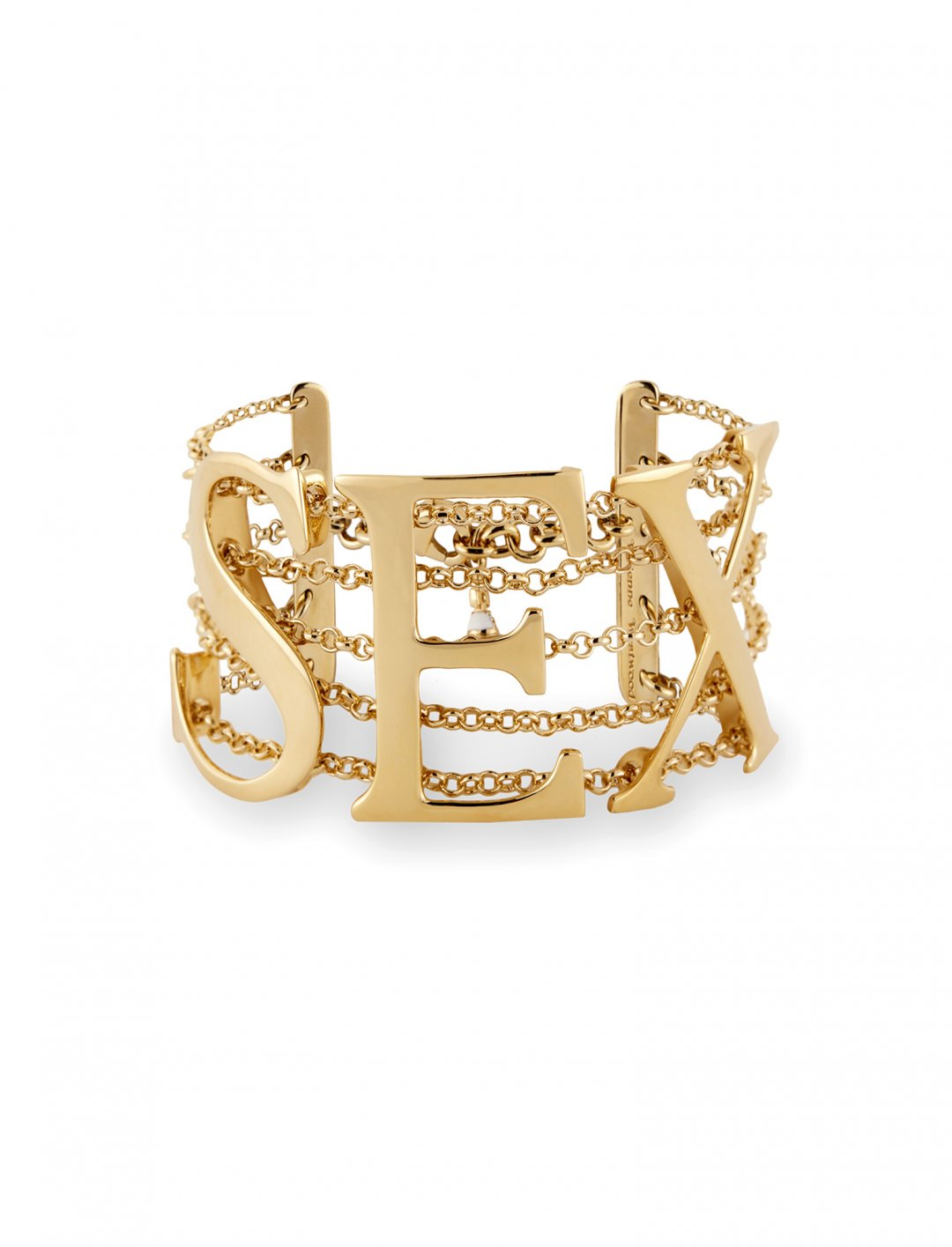 "Cardi B's  Gold Sex Bracelet {""id"":16,""product_section_id"":1,""name"":""Accessories"",""order"":15} Vivienne Westwood"